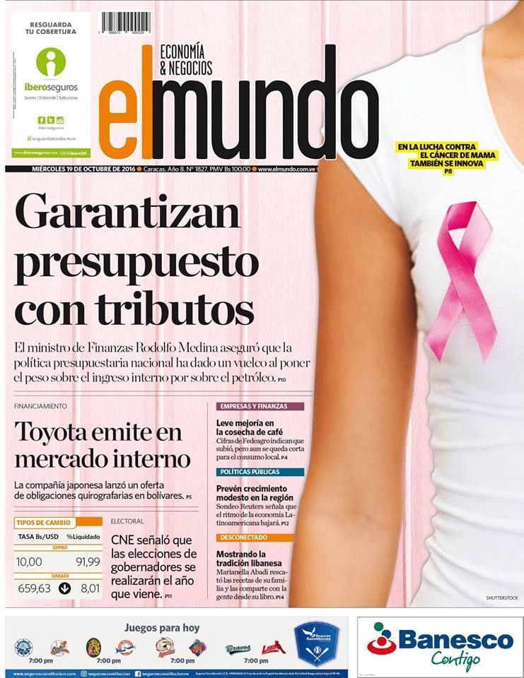 Diseño Editorial Alexis Véliz Coordinador De Diseño Del Periódico El Mundo Economía Y Negocios De Venezuela Nos Comparte Esta Excelente Portada En Homenaje A