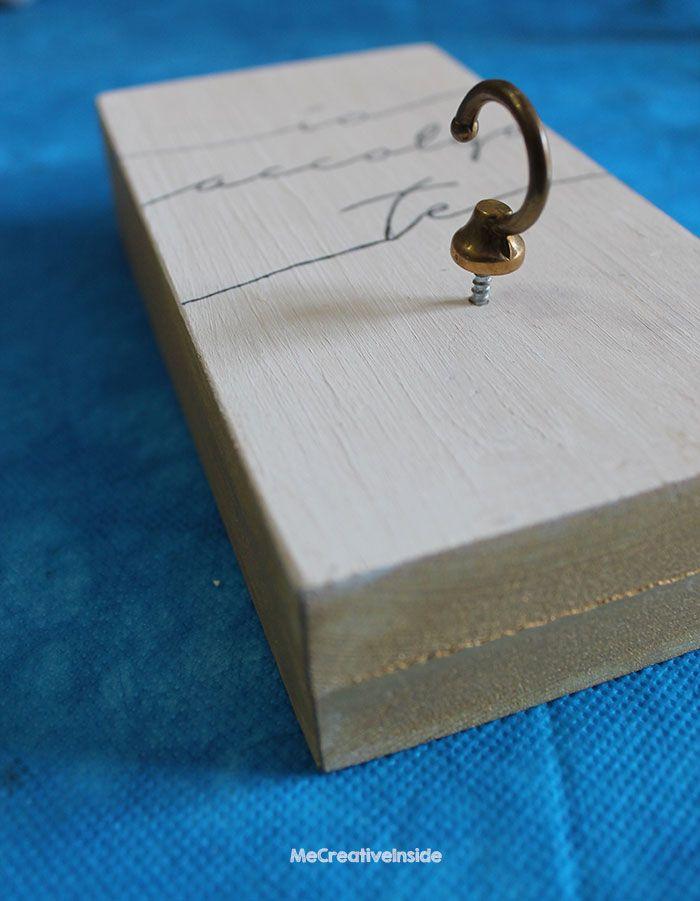 diy tutorial originale portafedi shabby legno frase io accolgo te me creative inside