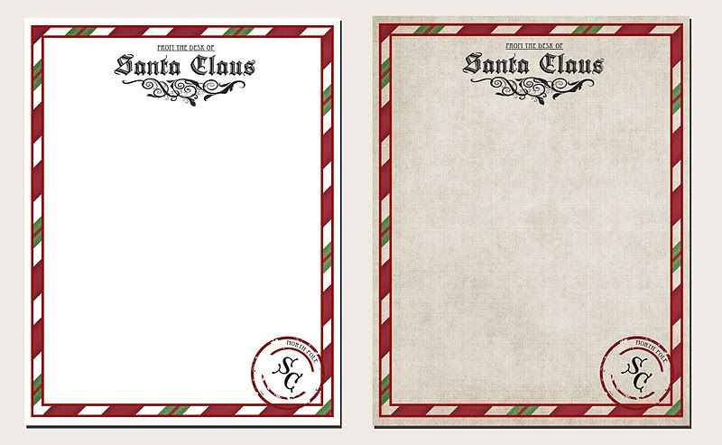 image about Printable Christmas Letters named Letter versus Santa Printable Xmas. Xmas