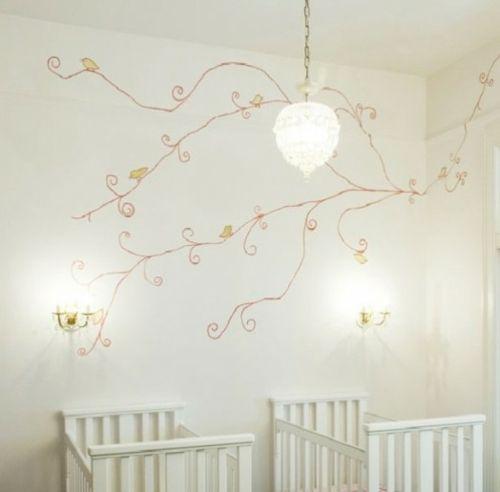 kinderzimmer design ideen mehrlinge wandmuster toll | mehrlinge, Wohnzimmer design