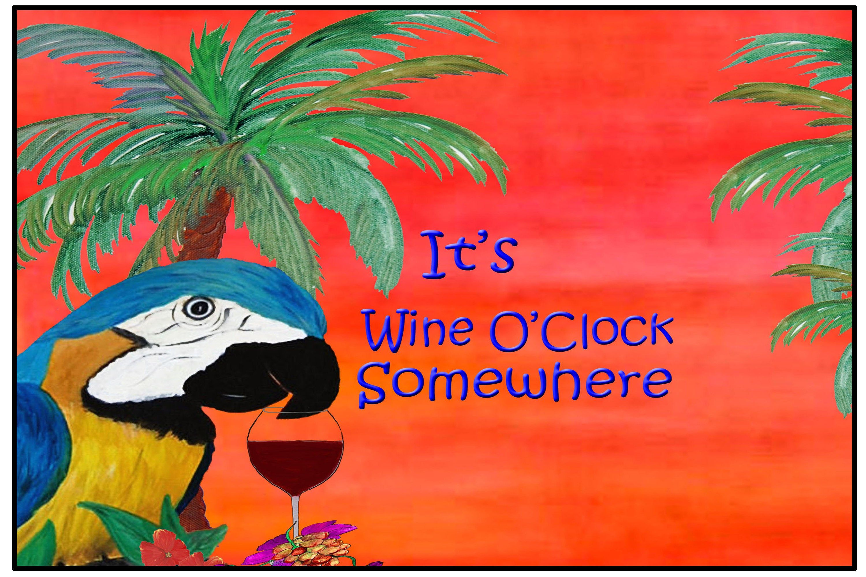 It S Wine O Clock Somewhere Parrot Tropical Beach Bar Etsy In 2020 Beach House Rug Tropical Beach Floor Mats