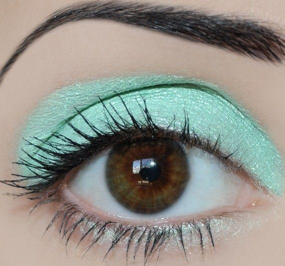 Jade eyeshadow @Gwen D hair #ghdPastels