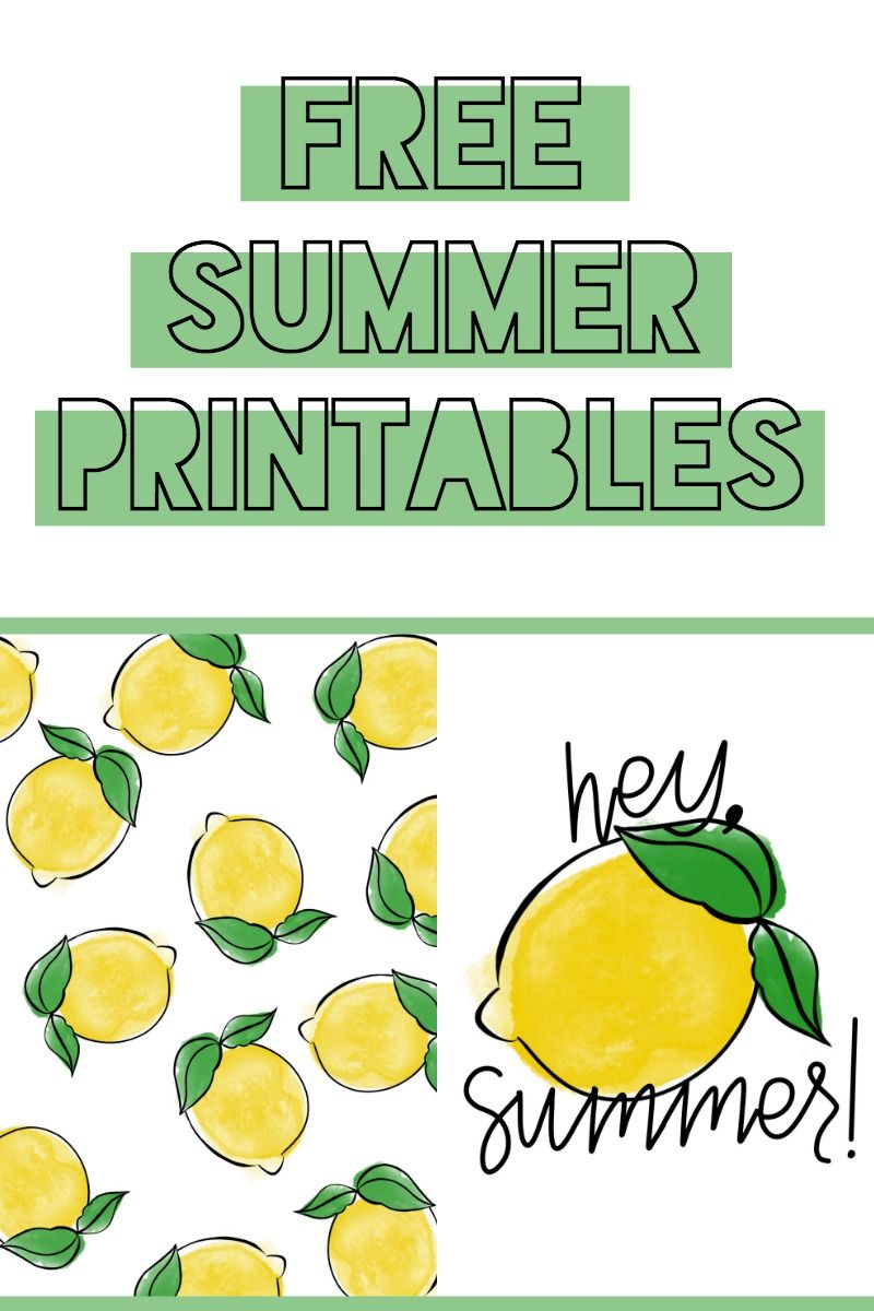 Free Summer Printable With Images Lemon Decor Summer