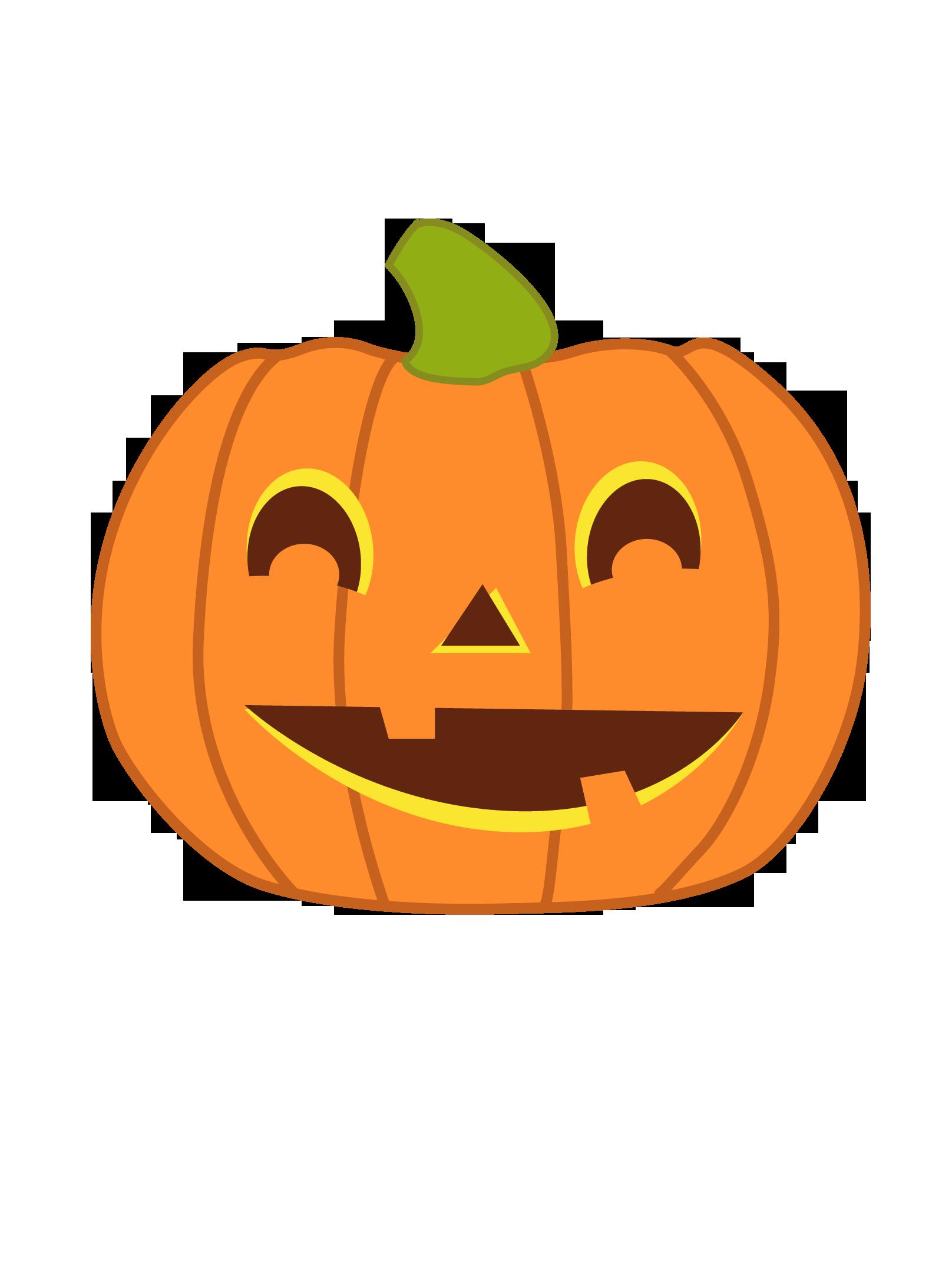 Cute Halloween Pumpkin Clip Art Free
