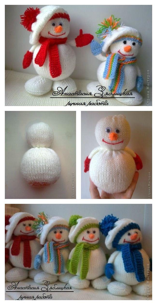 Knitting Snowman Free Pattern Christmas Knitting Patterns Snowmen Patterns Knitting Patterns Toys