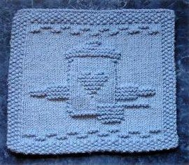 Knitting Pattern Snowflake Dishcloth : Cookie Jar Dishcloth Dishcloth, Knitted dishcloth patterns and Knitted dish...
