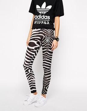 c74ce203b40 Enlarge Adidas Originals Zebra Leggings | Things I would like ...