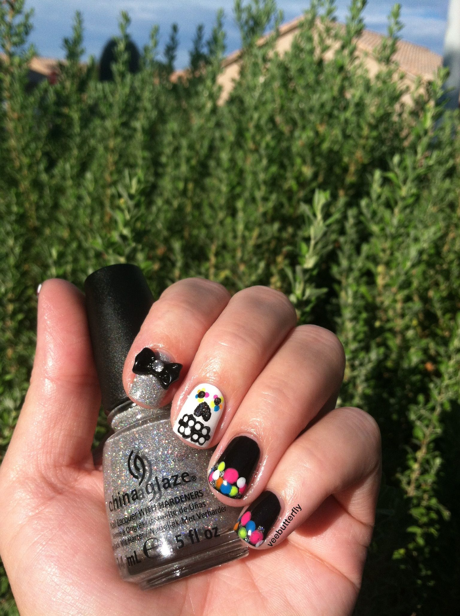 Halloween nails. Hand painted the sugar skull. | nails | Pinterest