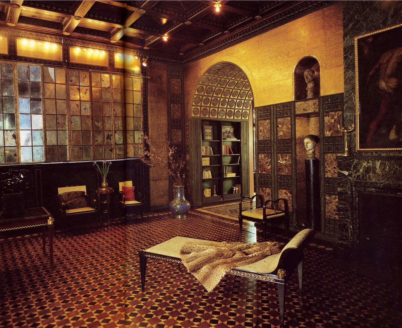 reception room of villa stuck, franz von stuck's home in munich