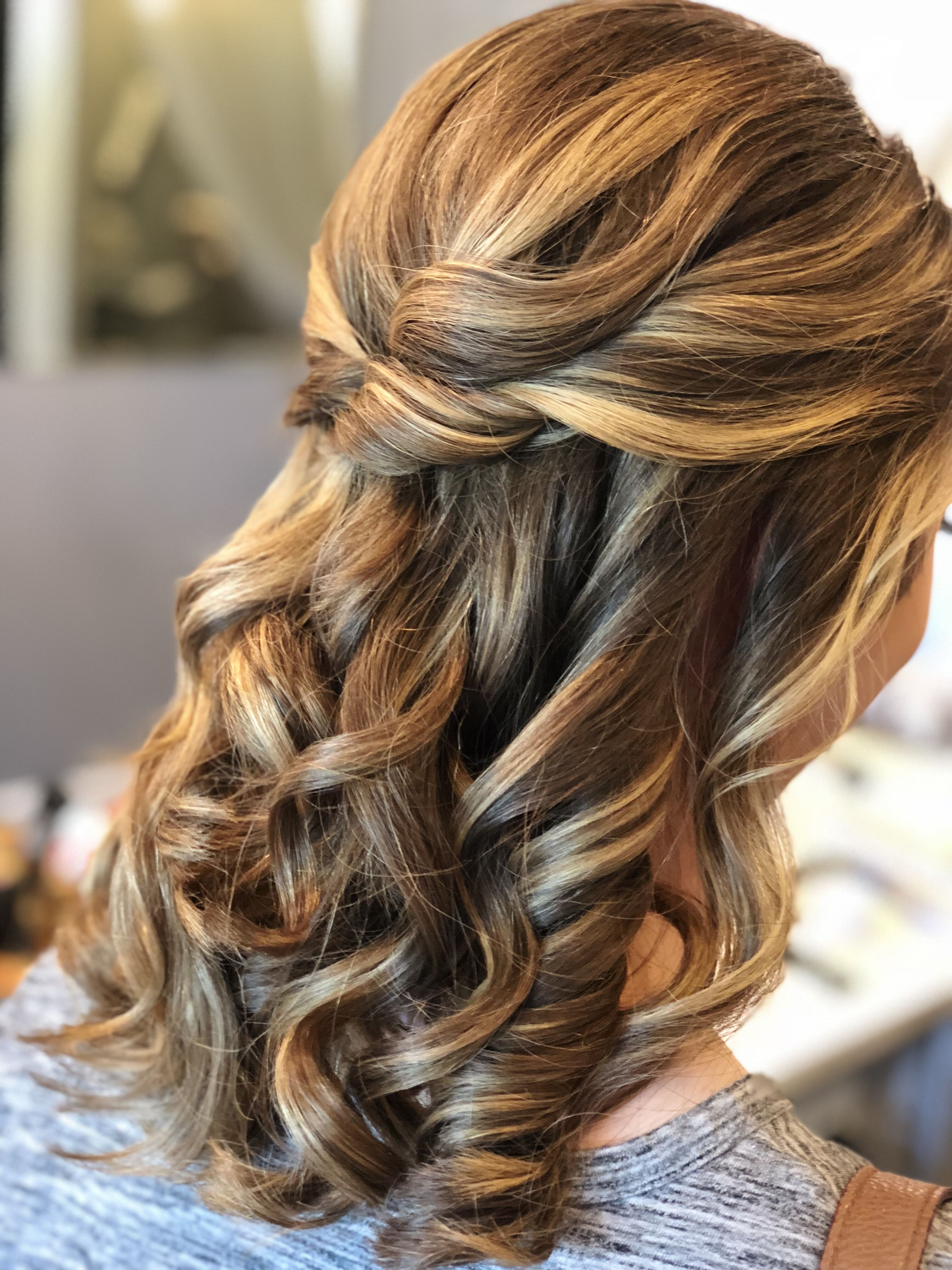 A Bella Bombshell- half up half down prom hair, twisted ...