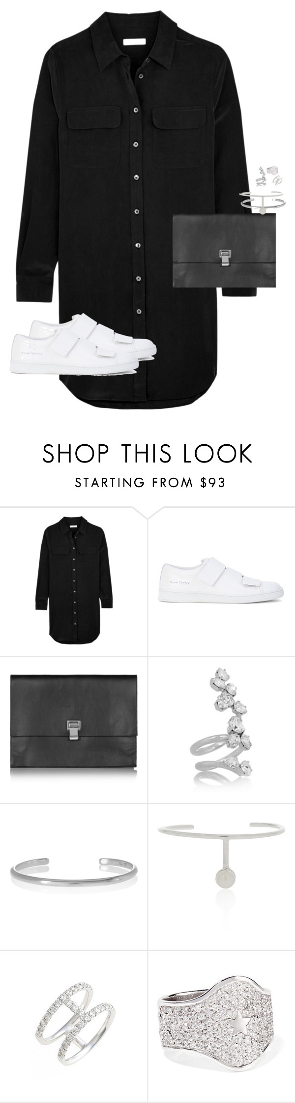 """Untitled #12118"" by alexsrogers ❤ liked on Polyvore featuring Equipment, Acne Studios, Proenza Schouler, Ryan Storer, Maison Margiela, Cornelia Webb, Bony Levy and Carolina Bucci"