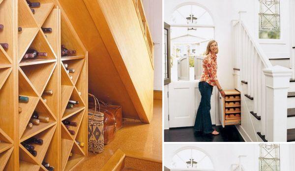 ideen stauraum unter der treppe weinregale | büro | pinterest
