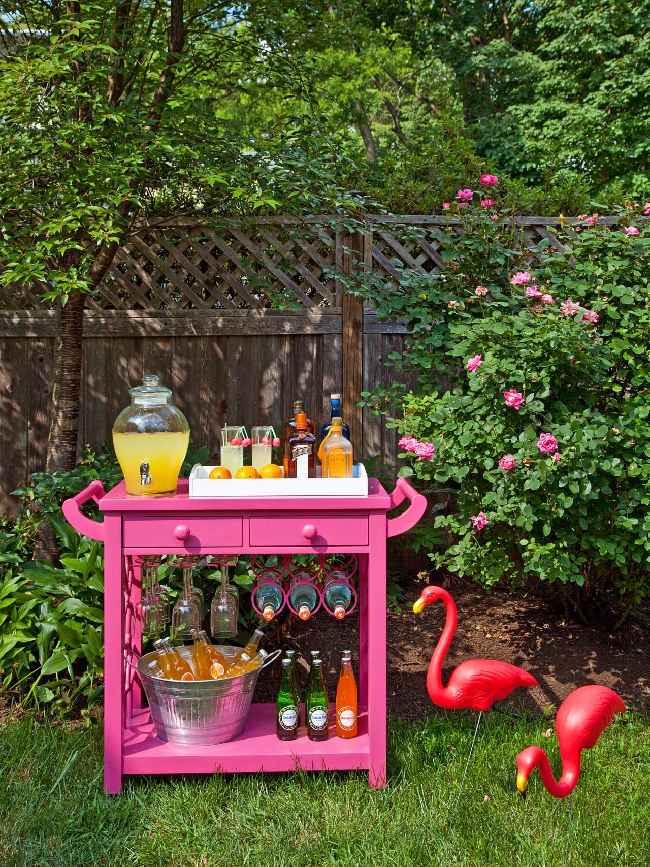 summer decorating ideas preppy interiors bar carts hgtv and