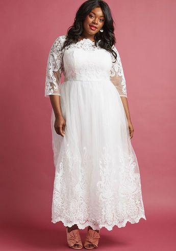 plus size lace vintage retro wedding gown Chi Chi London ...