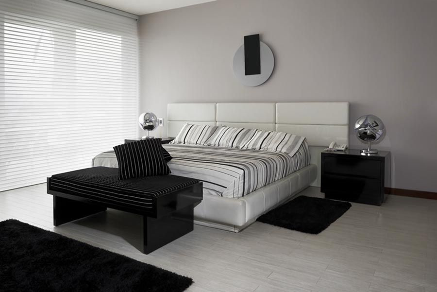 black white style modern bedroom silver. 63+ Modern Master Bedroom Ideas (Pictures, Designs, Paint Colors Inspiration) - Black White Style Silver Decor Pinterest