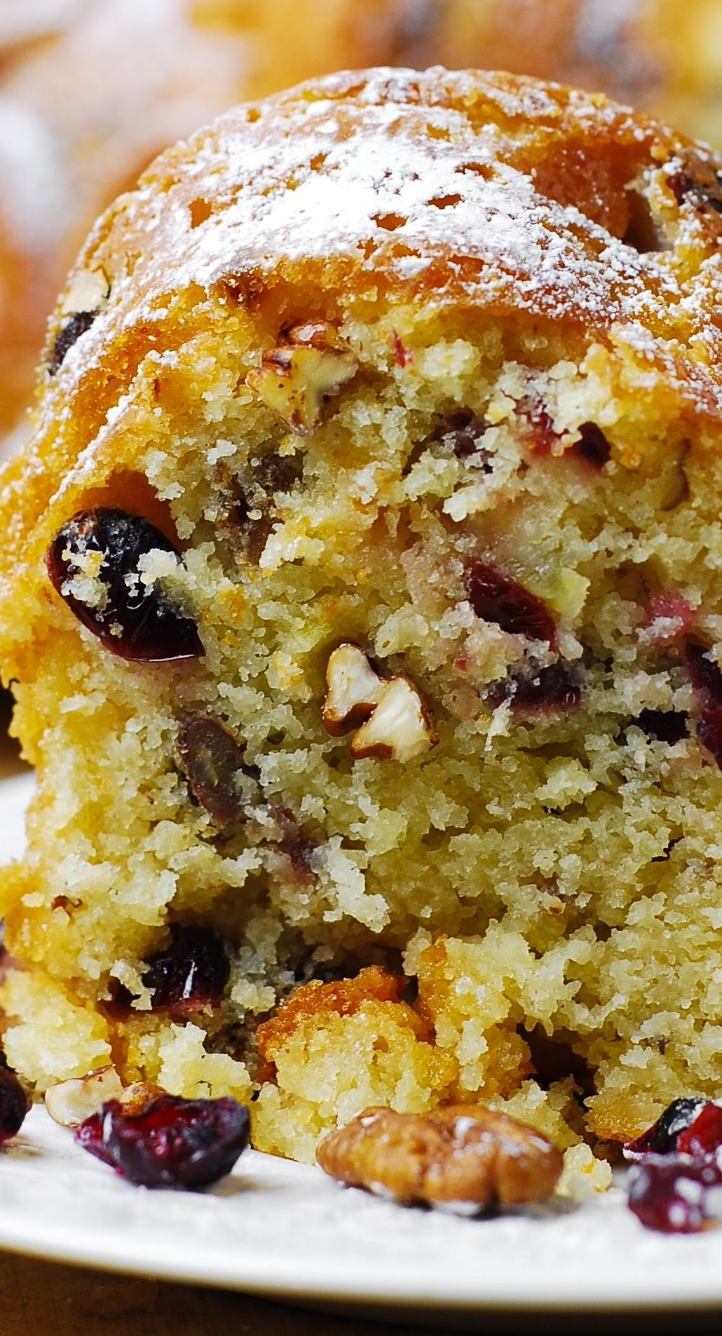 Holiday Vanilla Buttermilk Cake With Cranberries Apples And Pecans Ad Sponsored Cake Recipes Cranberry Recipes Dessert Recipes