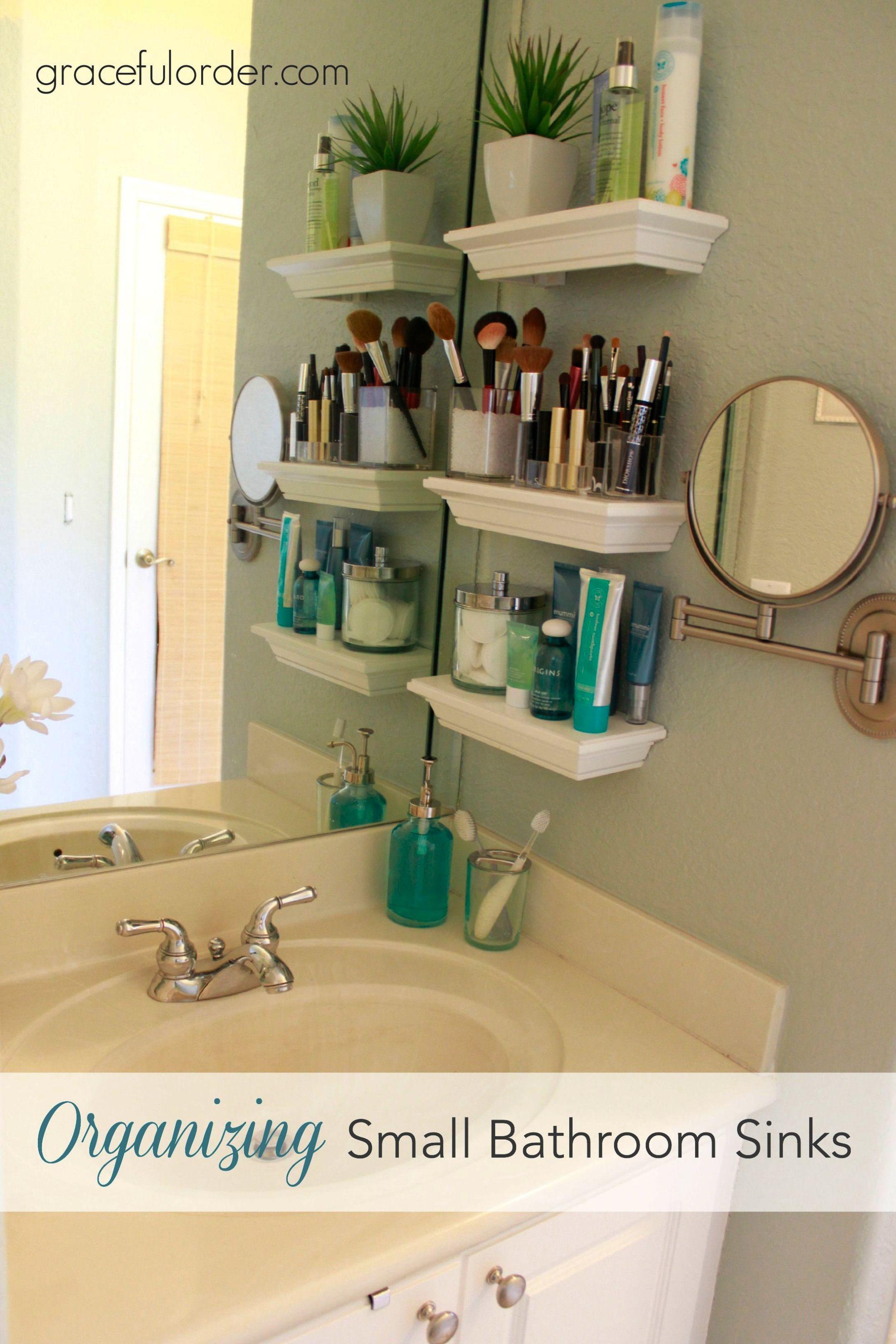 Organizing Small Bathroom Sinks Our House Pinterest Bathroom