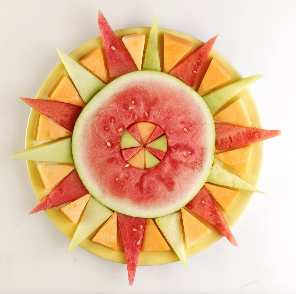 Sun made out of fresh melons...so cute!!!