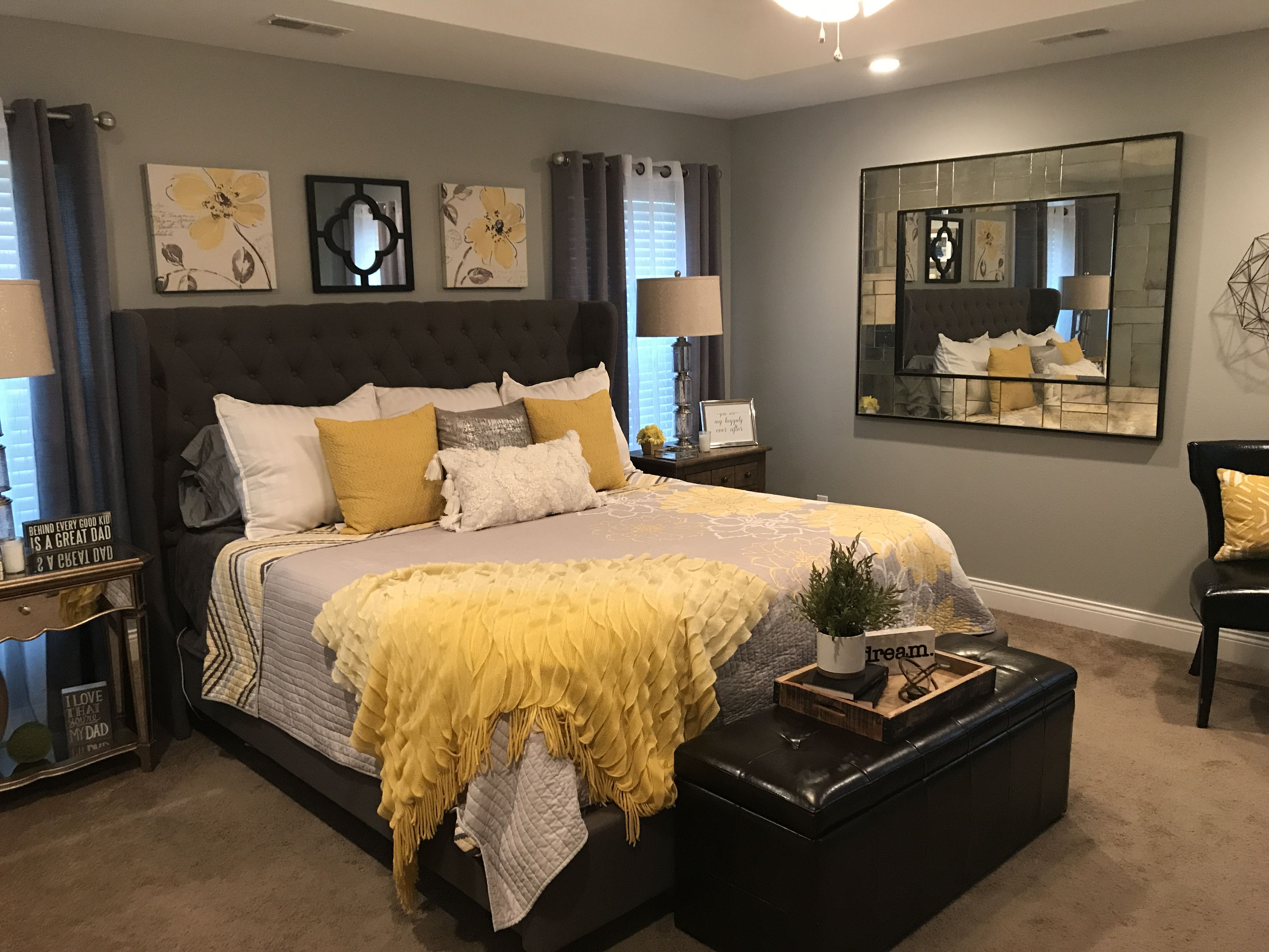 Pin by Cori Wray on Bedrooms | Yellow bedroom decor ...