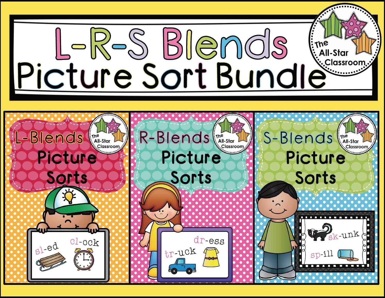 Blends Picture Sort Bundle L Blends R Blends S Blends