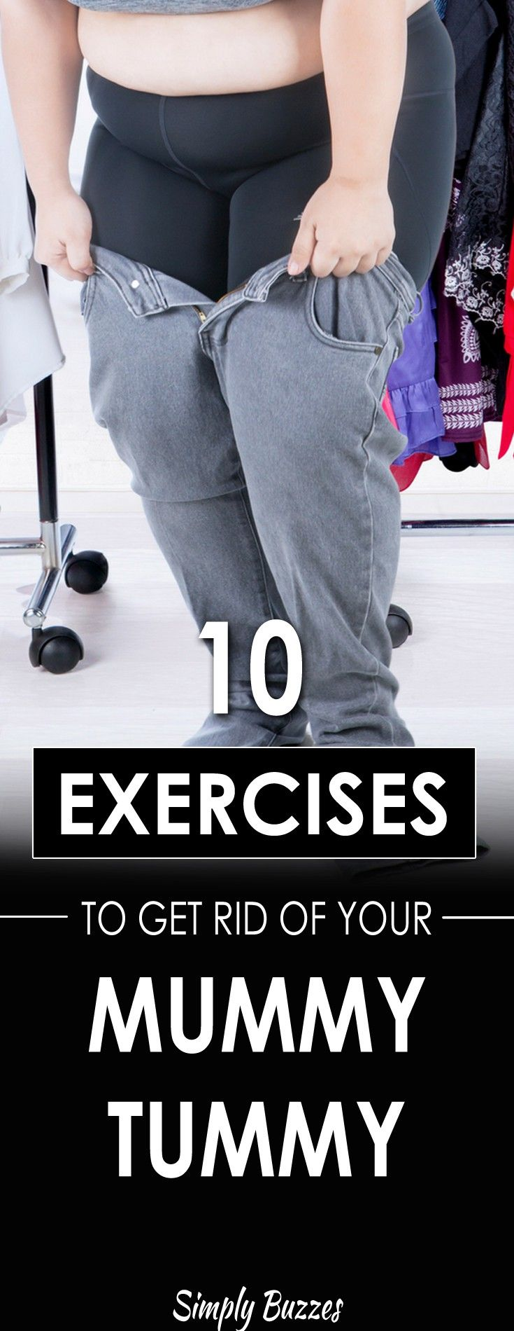 how to get rid of mommy belly exercise