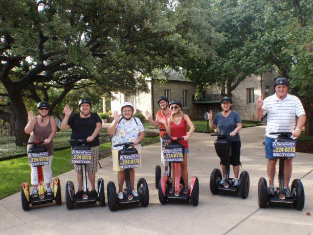 Fun with cousins on Segways