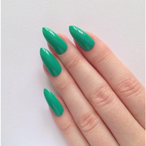 Green Stiletto Nails Nail Designs Art