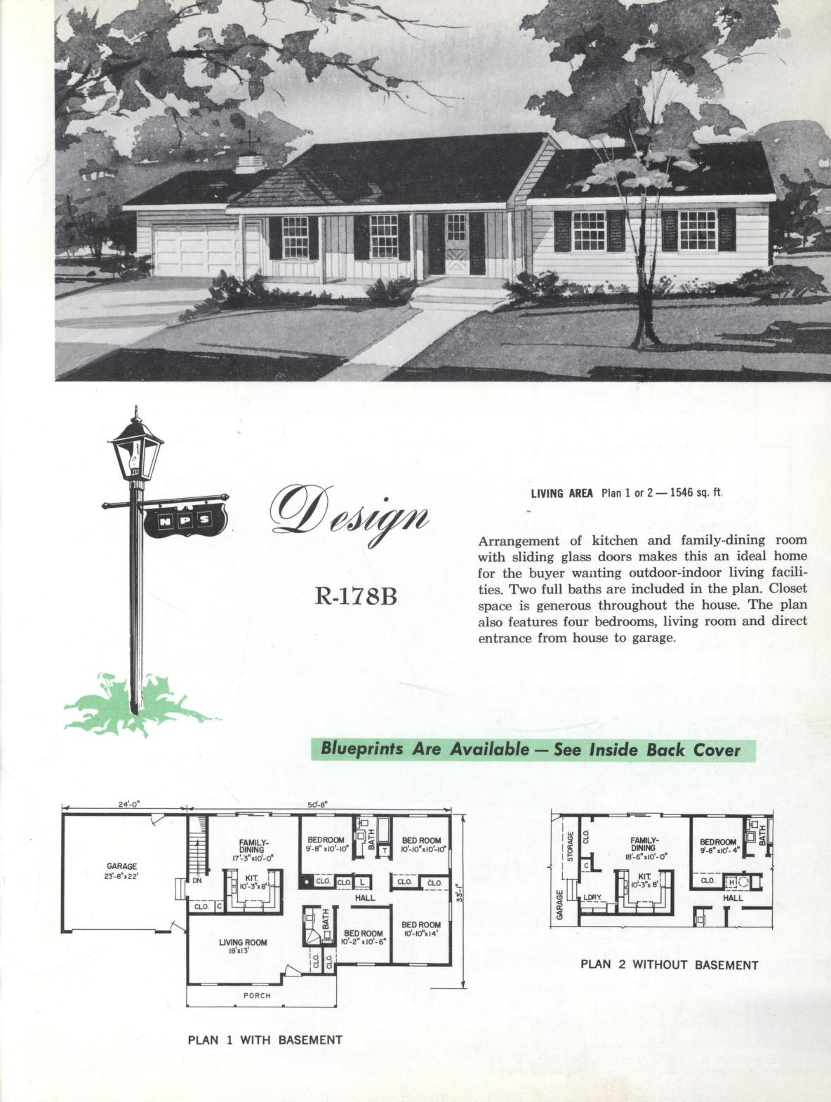 Colonial Homes 1963 Colonial House Vintage House Plans Living Design