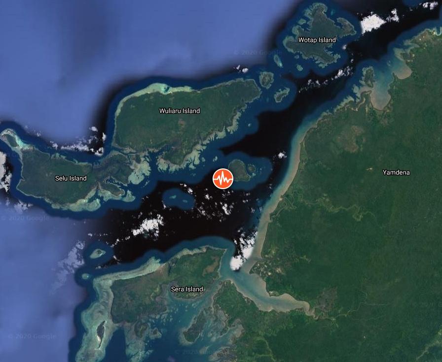 M5.9 earthquake hits near the coast of Yamdena island
