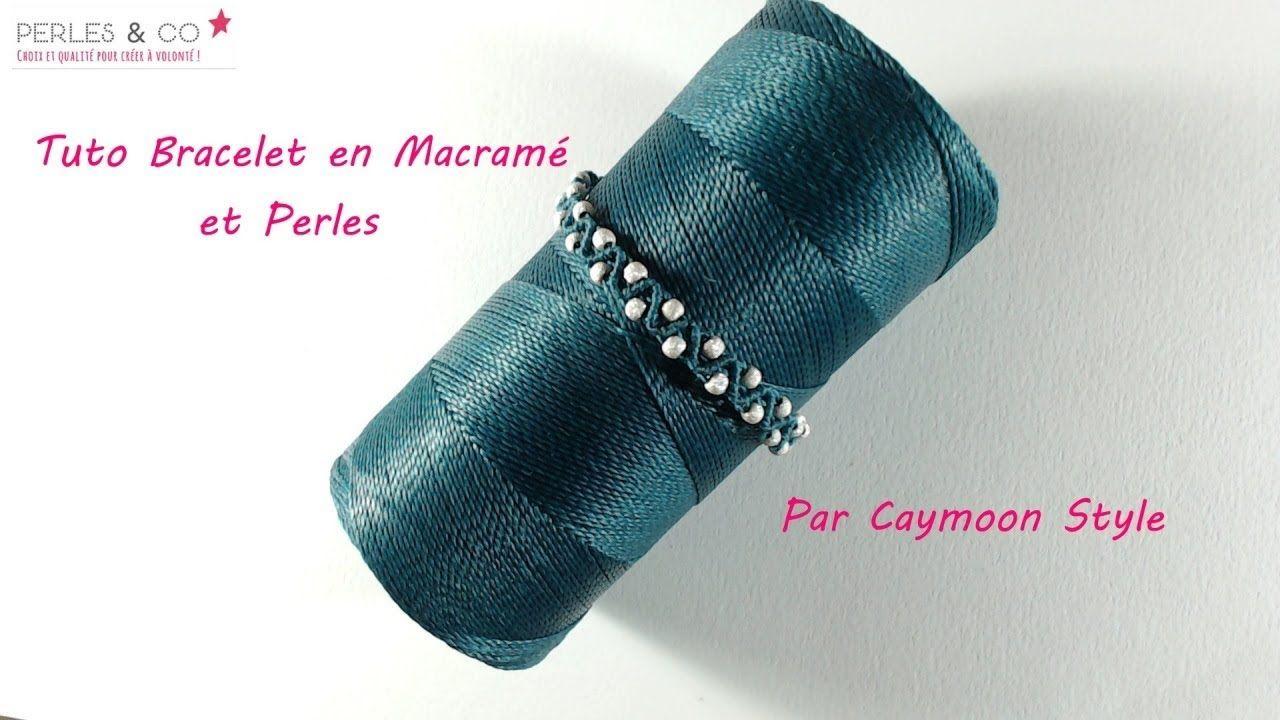 diy tuto bracelet chic et facile en macram et perles partenariat joyer a. Black Bedroom Furniture Sets. Home Design Ideas