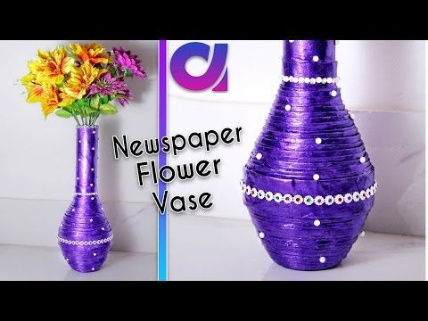 How To Make Newspaper Flower Vase Newspaper Craft Best Out Of