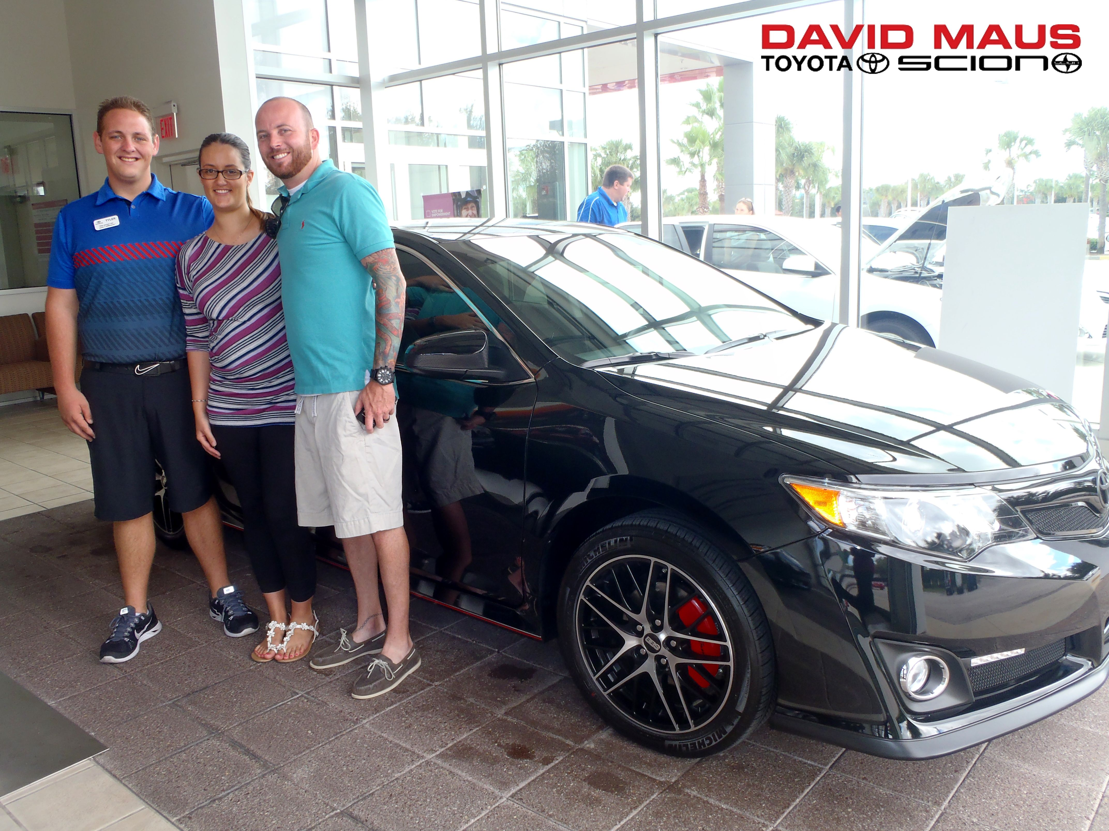 Chris and Alexa with their new #Toyota #Camry! Welcome to the #DavidMaus #family! #WhateverItTakes