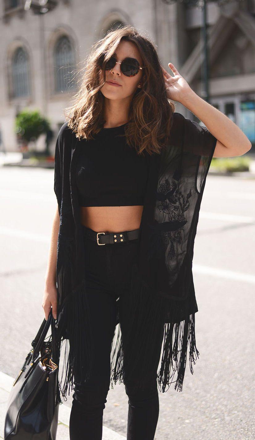 4229bf5d93df7 street  fashion crop top + lace cardigan  wachabuy