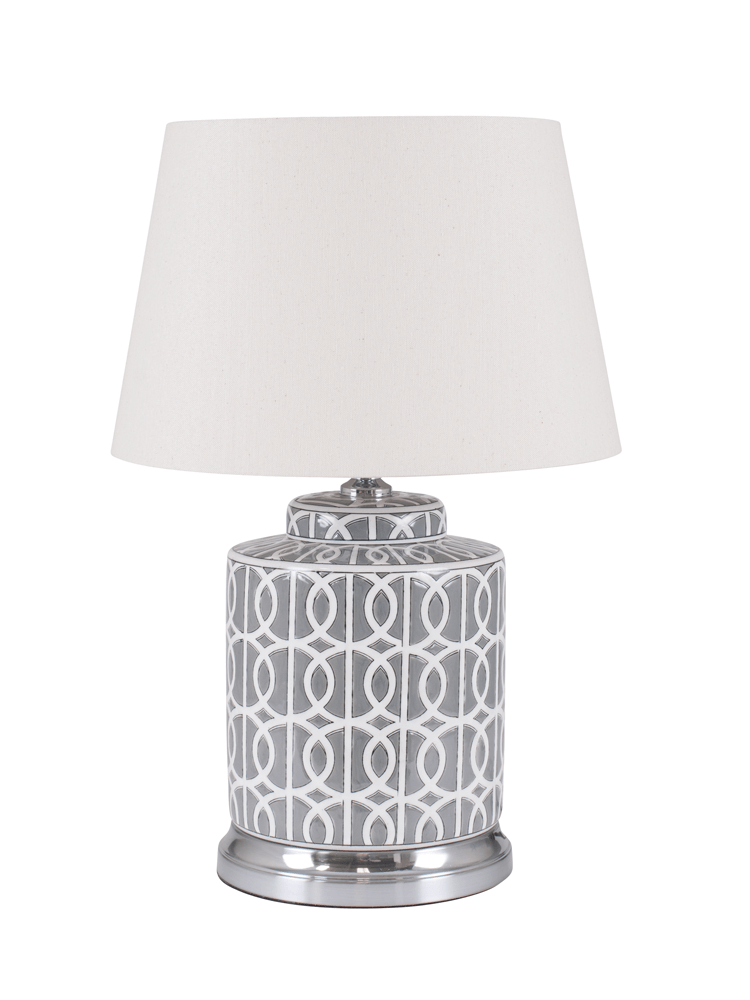Finished With A Natural Cotton Shade Our Table Lamp Is Carefully