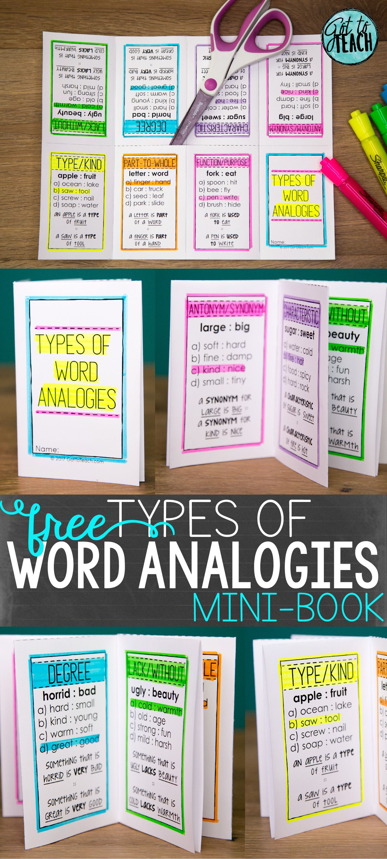 small resolution of Word Analogies Mini-Book • Teacher Thrive   Word analogies