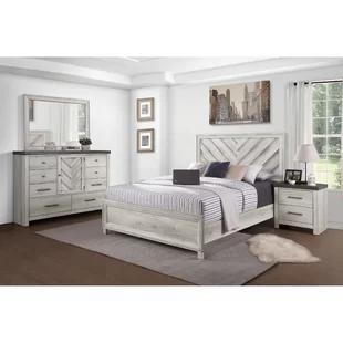 White Bedroom Furniture Wayfair In 2020 Bedroom Set Farmhouse Bedroom Furniture Farmhouse Bedroom Set