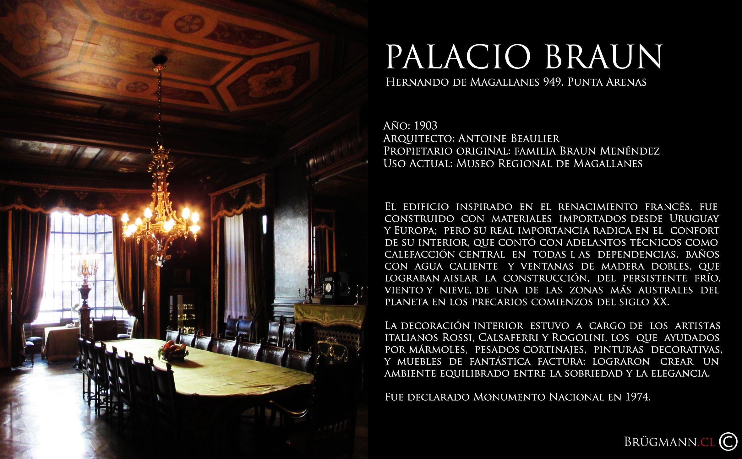 Palacio Mauricio Braun Calle Hernando De Magallanes 949 Punta  # Muebles Rafael Palacios