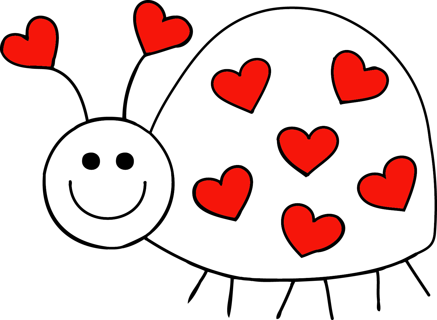 Valentine Love Bugs Cartoon Clipart - Free Clip Art Images ...