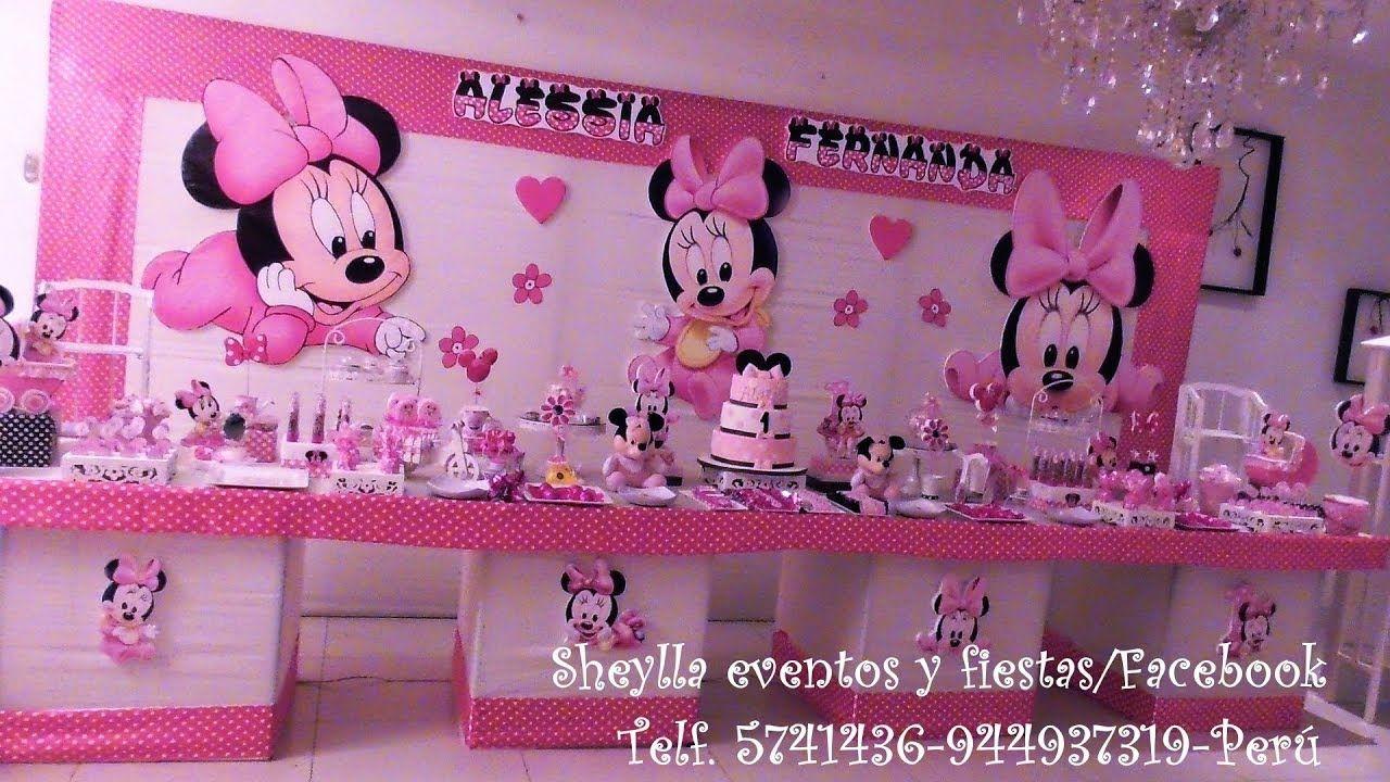 Como Hacer Una Presentación De Mesa Temática De Minnie Decoración De Fi Minnie Mouse Baby Shower Minnie Baby Minnie Mouse