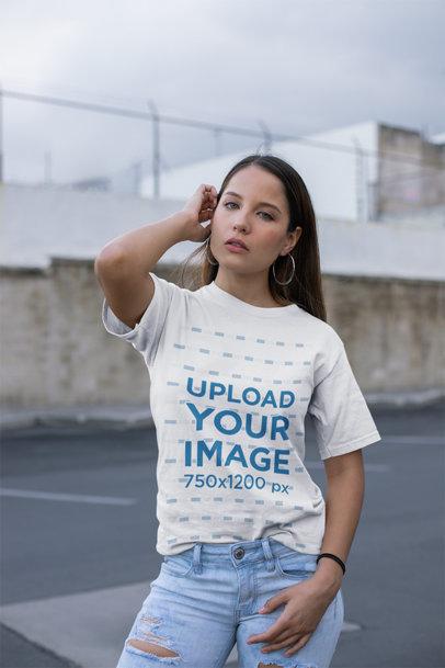 Download T Shirt Mockup Generator Promote Your T Shirt Business Placeit Clothing Mockup Shirt Mockup Womens Shirts