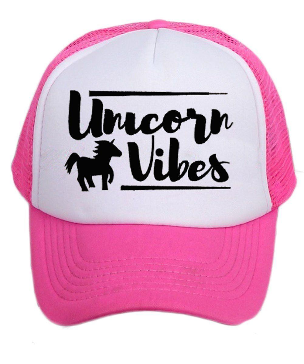 f366e14ba Unicorn Vibes Mesh Trucker Hat Baby Toddler Girls Pink | Baby ...