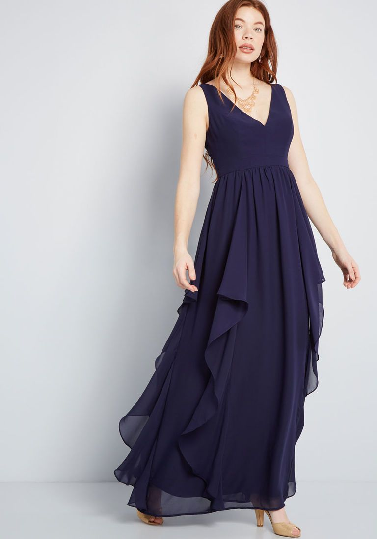 61c8c57794c6 As Ruffles Ripple Maxi Dress in Navy in 2019 | Hannah's Wedding ...