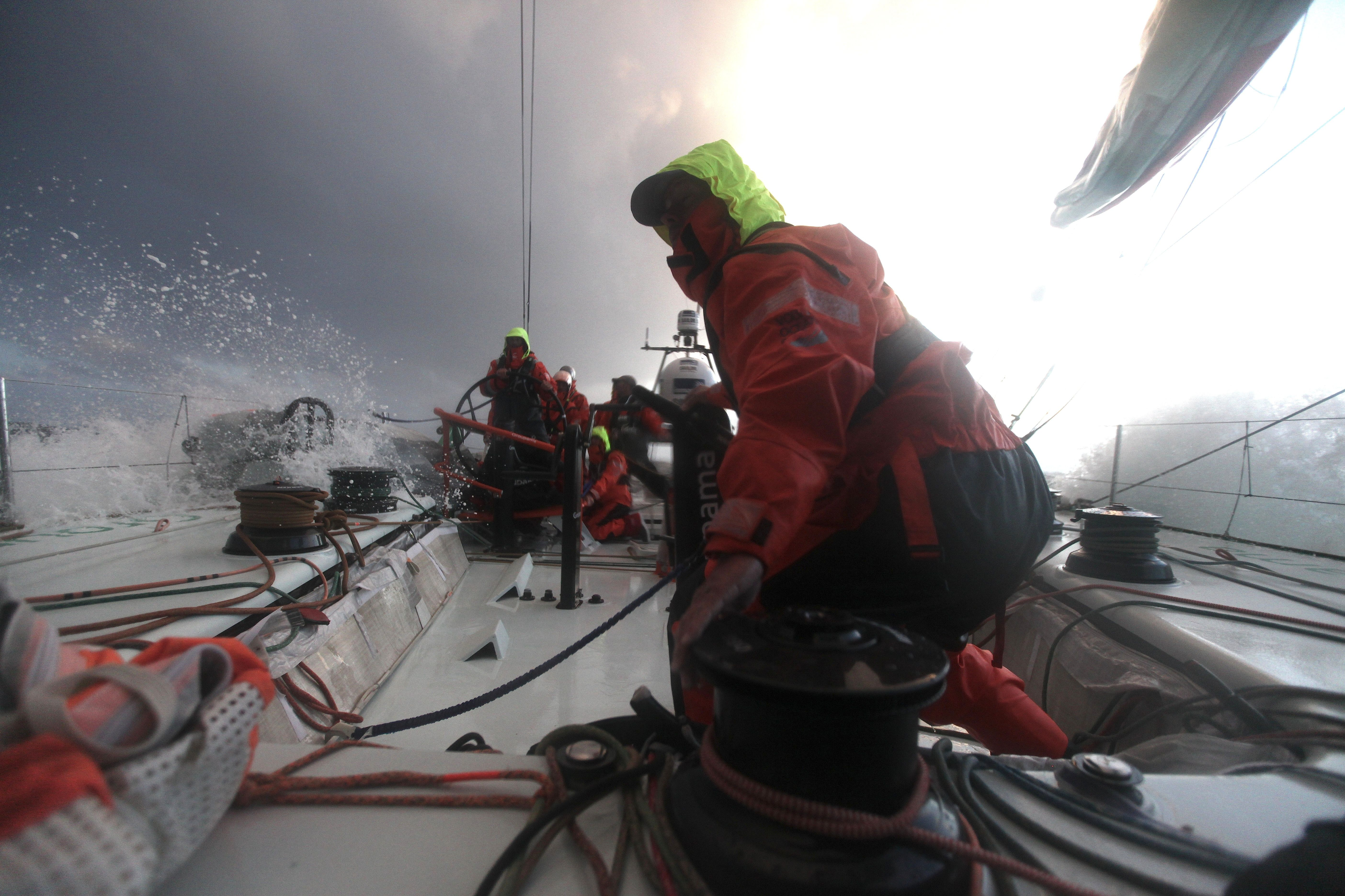 At the approach of Lorient / Thomas Coville / Credits : Yann Riou