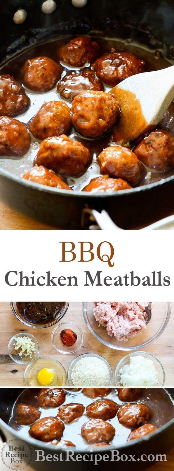 Smoky BBQ Chicken Meatballs   - Healthy recipes -