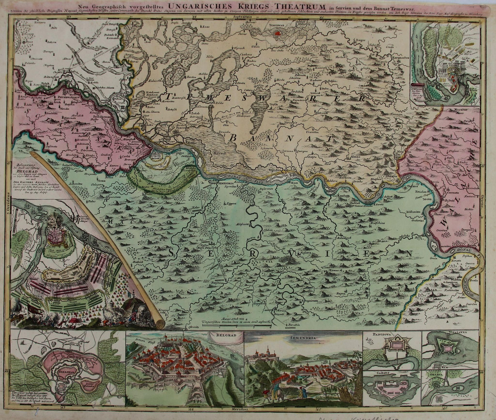 18th century map and chart about the war in hungary serbia by 18th century map and chart about the war in hungary serbia by johann baptist homann gumiabroncs Image collections