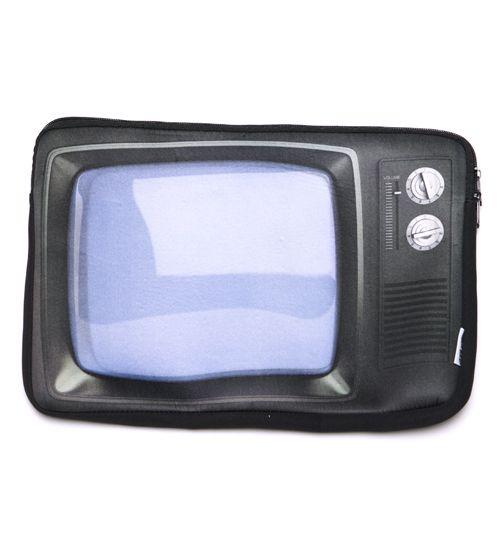 Retro TV laptop bag