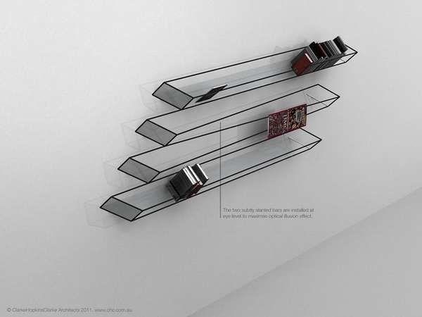 2D illusion shelving