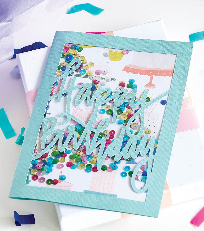 Diy Confetti Sequin Card Cricut Sequin Cards How To Make Confetti Confetti Cards