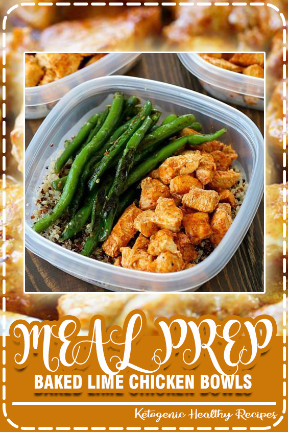These Meal Prep Baked Lime Chicken Bowls are not just healthy but also delicious. Chicken breasts a