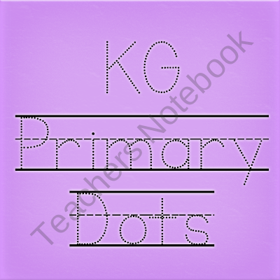 FREE KG Primary Dots Font: Personal Use product from Kimberly